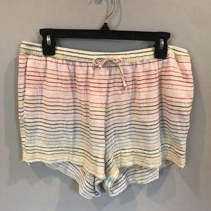 Comfy rainbow striped shorts